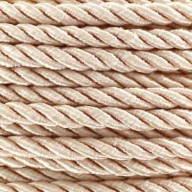 Satiny twisted Cord 5mm - peach x 1m