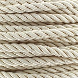 Satiny twisted Cord 5mm - ecru x 1m