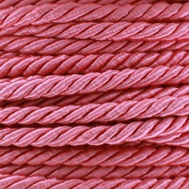 Satiny twisted Cord 5mm - pink x 1m