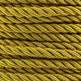 Satiny twisted Cord 5mm - golden brown x 1m