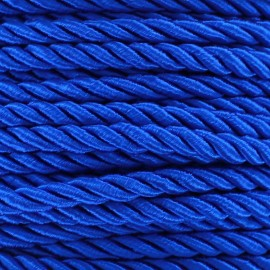 Satiny twisted Cord 5mm - navy x 1m