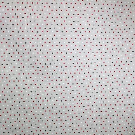 Cotton Canvas Fabric Confettis - burgundy x 10 cm