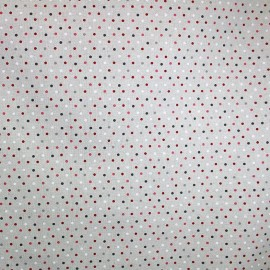 Coated cotton fabric Confettis - burgundy x 10cm