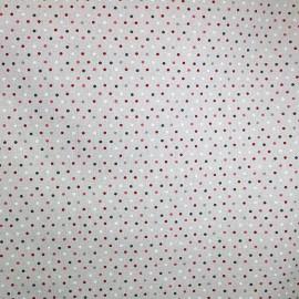 Tissu enduit coton Confettis bordeaux x 10cm