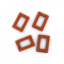 Boucle pour anse de sac - orange  (lot de 4)