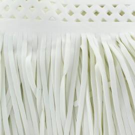 Frange simili cuir Apache blanc x 50cm