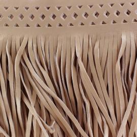 Frange simili cuir Apache beige x 50cm