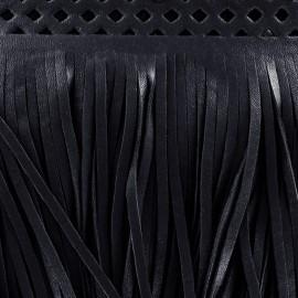 Franges simili cuir Apache marine x 50cm