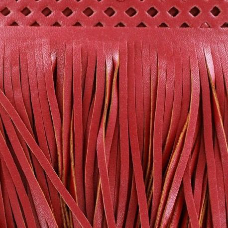 Fauw leaher fringe Apache - red x 50cm