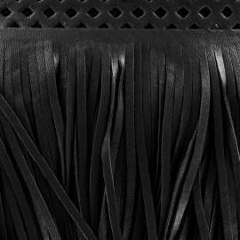 Franges simili cuir Apache noir x 50cm