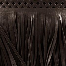Frange simili cuir Apache marron x 50cm