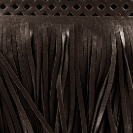 Franges simili cuir Apache marron x 50cm
