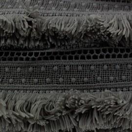 Franges guipure gris anthracite x 50cm