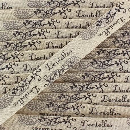Bias binding -Linen/cotton - dentelle x 1m