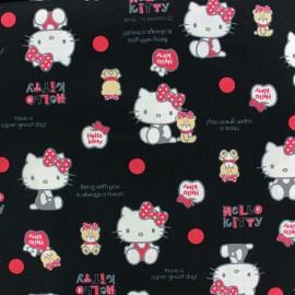 Tissu toile coton Hello Kitty Bear Dot noir x 20cm