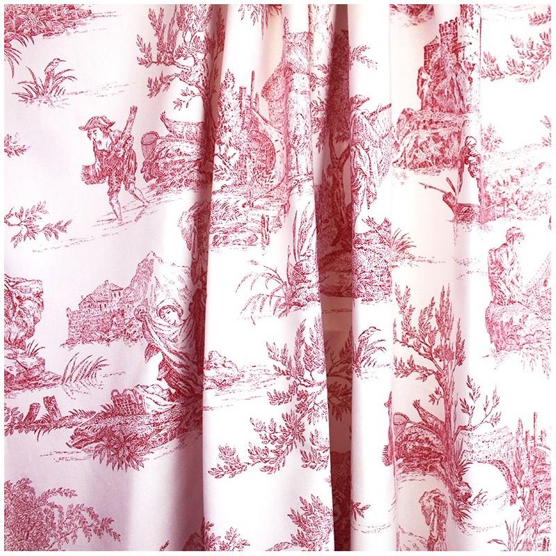 Toile De Jouy Fabric Paysanne Pink X 55cm Ma Petite