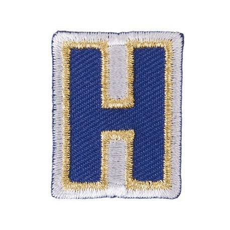 Thermocollant brodé Alphabet Fun - H