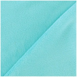 Soft short minkee velvet Fabric - aqua x 10cm