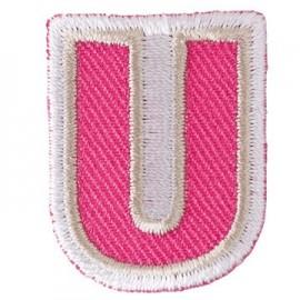 Thermocollant brodé Alphabet Fun - U