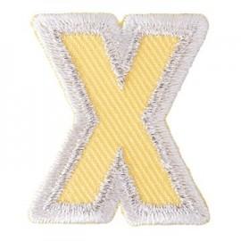 Thermocollant brodé Alphabet Fun - X