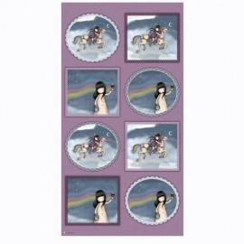 Tissu Gorjuss - Rainbow dreams - Panneau x 59 cm