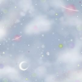 Gorjuss fabric  -  Rainbow dreams - Light blue space x 10 cm
