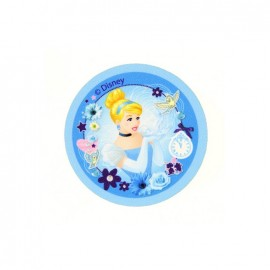 "Iron on canvas patch Badge The Disney Princesses ""Cinderella"" - light blue"