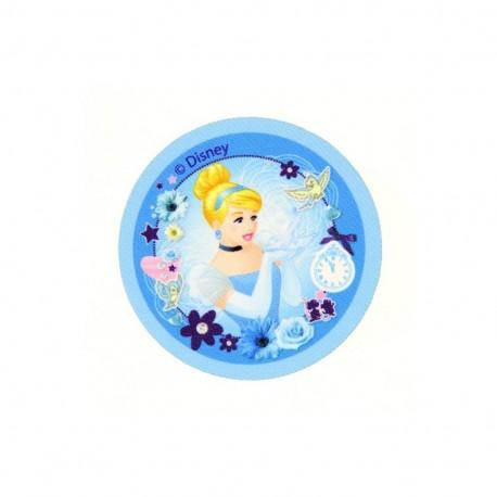 "Iron on canvas patch Badge The Disney Princesses ""Cinderella"" - light blue"