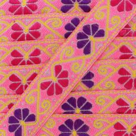 Jacquard braid trimming ribbon Delhi x 1m - pink
