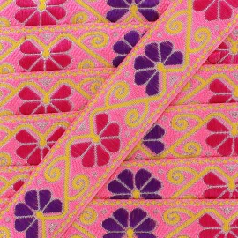 Ruban Galon Jacquard Delhi rose x 1m