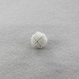 Wool ball button - light grey