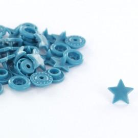 10 pressions étoiles Kam bleu acier