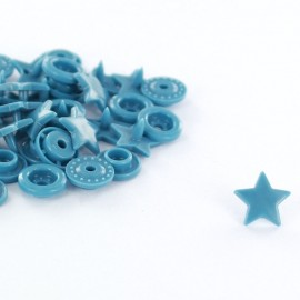 10 snap-buttons Kam - steel blue
