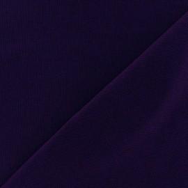 Tissu toile de coton uni CANEVAS violet x 10cm