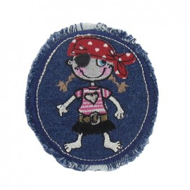 Thermocollant Petite fille pirate sur jeans