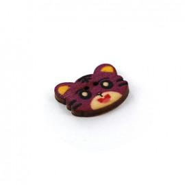 Wooden button MIAOU Luna
