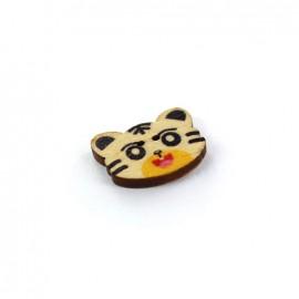 Wooden button MIAOU Lucky