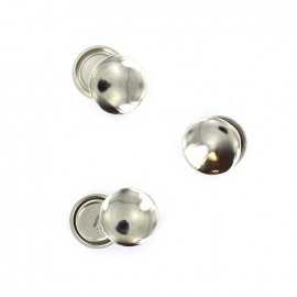 Metal buttons to cover  29 mm (x3) - silver