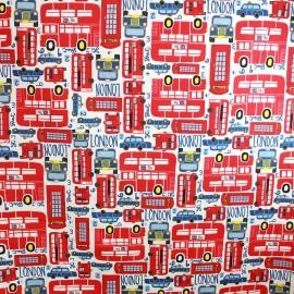 Tissu coton cretonne Citybus x 63cm