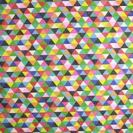 Tissu coton cretonne Prisme x 10cm