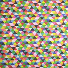 Tissu enduit coton Prisme x 10cm