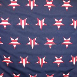 Tissu American Star navy x 25cm
