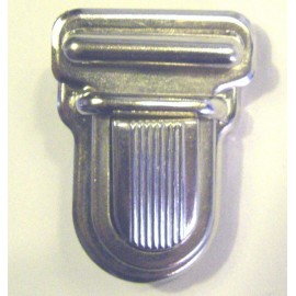 Clip attachment for schoolbag - nickel-plated