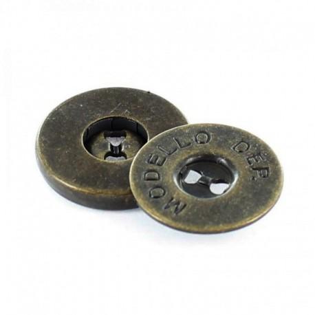 Bouton métallique Modello Laiton x 18 mm