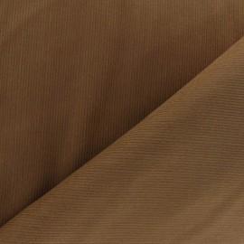 Tissu velours milleraies 200gr/ml brun