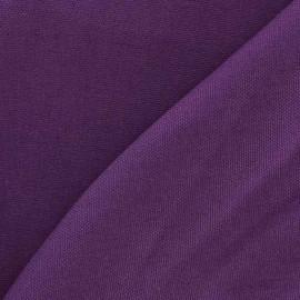 Tissu toile de coton uni CANEVAS Mauve x 10cm