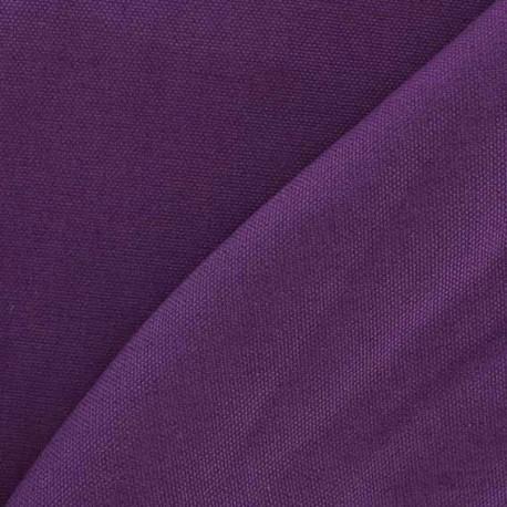 Tissu toile de coton uni CANEVAS V2 Mauve x 10cm