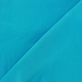 Pearl stitched cotton fabric - azure x 10cm