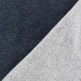 Tissu sweat marine chiné x 10cm