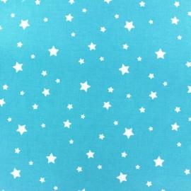 Tissu enduit coton Scarlet bleu turquoise x 10cm